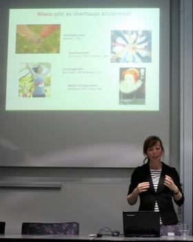 Prof. Böckler beim Vortrag