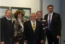 Der neu gewählte Vorstand der Simon-Höchheimer-Gesellschaft Veitshöchheim: (von links) Kassier Dieter Scheckeler, Marianne Beinhofer, Vorsitzender Rudolf Gabler,  Rudolf Simmelbauer und Marc Zenner.